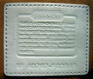 coach serial number search