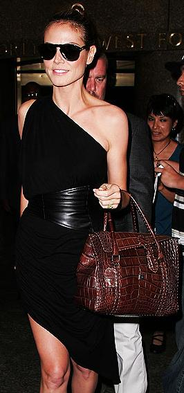 Heidi Klum Brown Handbag