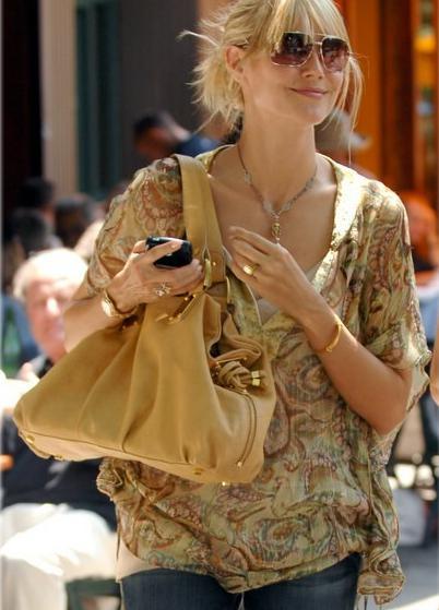 Heidi Klum Camel Handbag