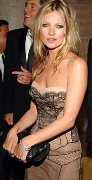 Kate Moss Black Clutch Dior Lace Gown