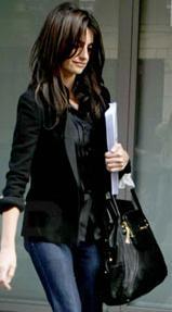 Penelope Cruz Black Handbag