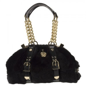 versace-black-faux-fur-satchel